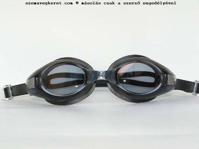 Shoptic View úszószemüveg dioptriázható, fekete, szürke